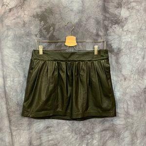 Diane von Furstenberg Leather Ruched Mini Skirt 4